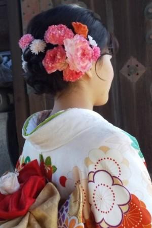 成人式 髪飾り 布花 フラワーアンジェリク