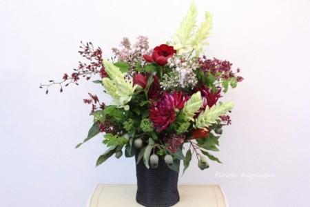 フラワーアレンジメント お祝い花 開店祝い お祝い花 芍薬 百合