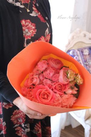生花 アレンジメント ブーケ レッスン 薔薇