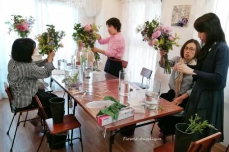 ノンフィクション Ken'sフラワー 花束 ブーケ シーアネモネ 芍薬 平井堅