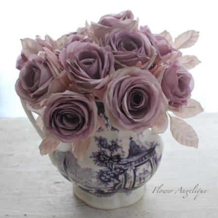 薔薇リース 布花 バラ レッスン