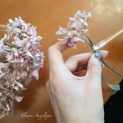 布花 あじさい 紫陽花 レッスン
