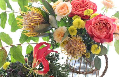 生花 アレンジメント 秋色 四季の花々 レッスン 神戸 フラワーアンジェリク