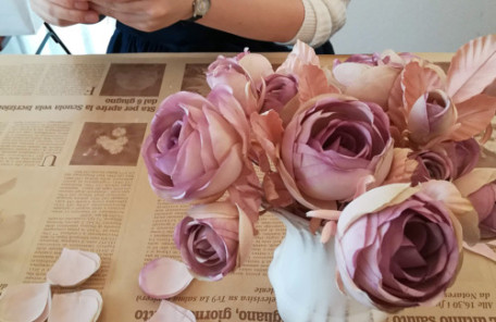 布花 薔薇 バラ リース レッスン 神戸 大阪 フラワーアンジェリク