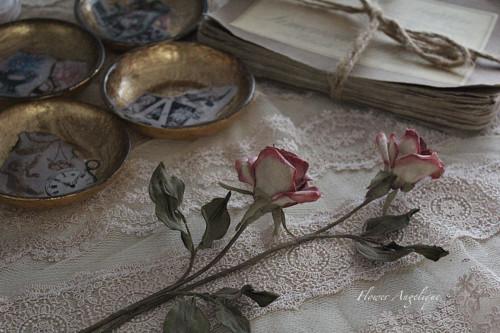 布花 薔薇 アンティーク ドライ レッスン 神戸 フラワーアンジェリク