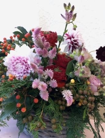 フラワーアレンジメント 生花 秋祭り おもてなしの花 レッスン 大阪 神戸 フラワーアンジェリク