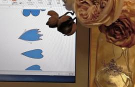 布花 型紙づくり レッスン 大阪 神戸 フラワーアンジェリク