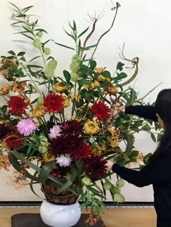 生花アレンジメント 生け込み 曽根天満宮 大阪 神戸 フラワーアンジェリク