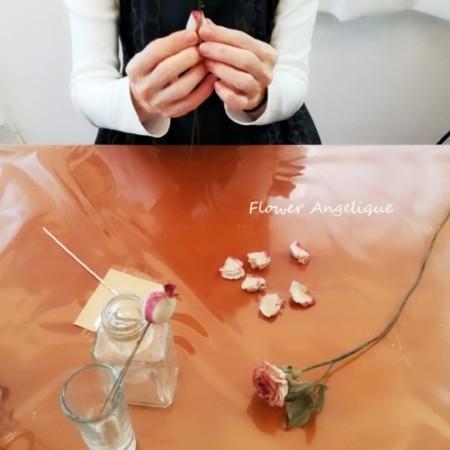 布花 薔薇 ばら ドライフラワー風 神戸 大阪 フラワーアンジェリク