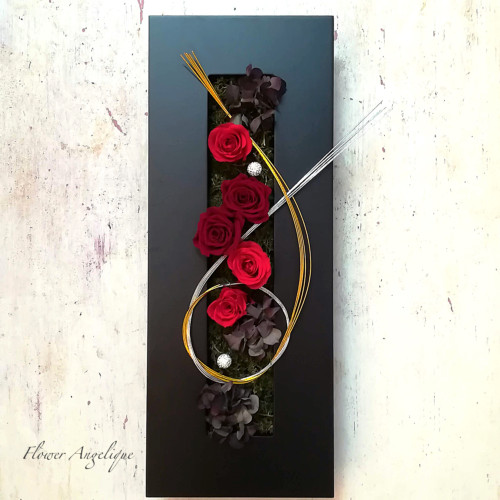 プリザーブドフラワー 薔薇 赤 フラワーボード フラワーアンジェリク