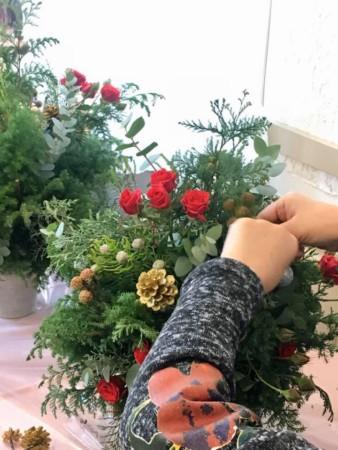 フレッシュフラワー スワッグ クリスマスツリー クリスマス ドライフラワーに 神戸 フラワーアンジェリク