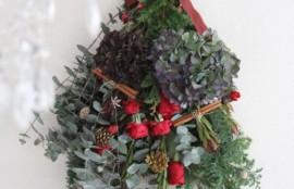 フレッシュフラワー スワッグ クリスマス ドライフラワーに 神戸 フラワーアンジェリク