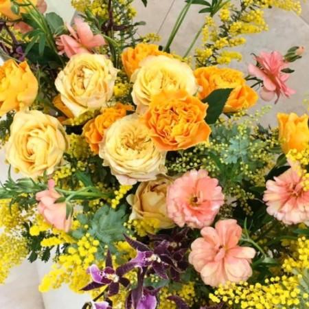 生花 アレンジメント 店舗ディスプレイ ラナンキュラス 神戸 フラワーアンジェリク