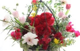 生花 アレンジメント 鳥かご ラナンキュラス 神戸 フラワーアンジェリク