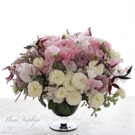 生花 アレンジメント ラウンド レッスン 神戸 フラワーアンジェリク