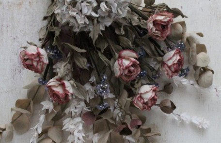 布花 スワッグ 薔薇