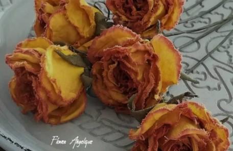 布花 薔薇 ドライフラワー風 成人式 髪飾り
